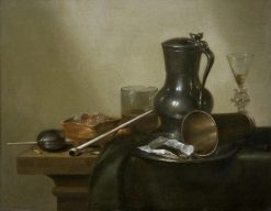 Still Life with Tobacco, Wine and a Pocket Watch