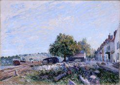 Saint Mammes - Morning | Alfred Sisley | oil painting