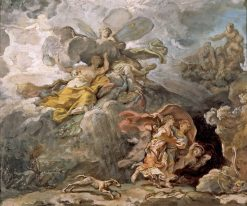 Aeneas and Dido Fleeing the Storm | Jean Bernard Restout | oil painting