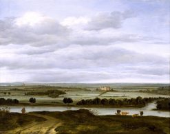 Panoramic Landscape near Rhenen with the Huis ter Lede | Anthonie van Borssum | oil painting