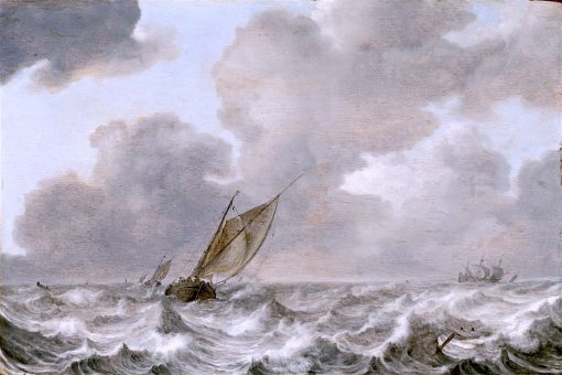 Vessels in a Moderate Breeze | Jan Porcellis | oil painting