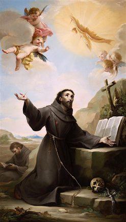 Saint Francis of Assisi Receiving the Stigmata | Mariano Salvador Maella | oil painting