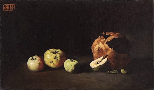 Still Life with Apples and a Pomegranate | Theodule-Augustin Ribot | oil painting