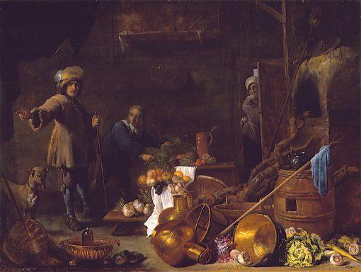 Kitchen Interior | David Teniers (II | oil painting