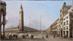 Piazza San Marco Looking South and West | Canaletto | oil painting