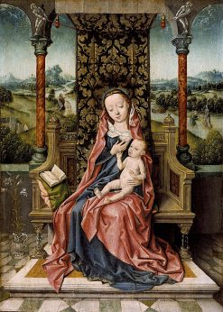 Madonna and Child Enthroned | Aelbrecht Bouts | oil painting