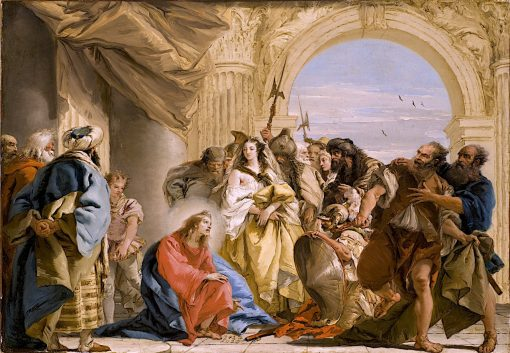 Christ and the Woman Taken in Adultery | Giovanni Battista Tiepolo | oil painting