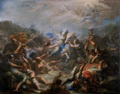 Camillia at War from Virgils Aeneid | Giacomo Del Po | oil painting