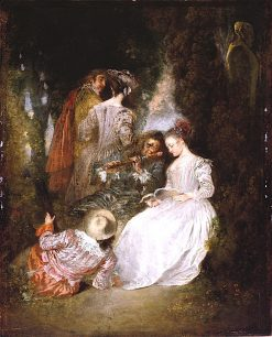 The Perfect Accord | Jean-Antoine Watteau | oil painting