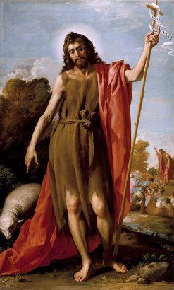 Saint John the Baptist in the Wilderness | Jose Leonardo | oil painting