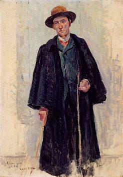 Félix Fénéon Vetu de Son Grand Manteau | Maximilien Luce | oil painting