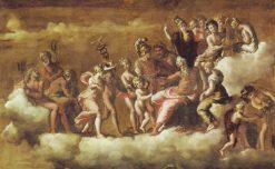 The Reception Of Psyche Into Olympus | Polidoro Da Caravaggio
