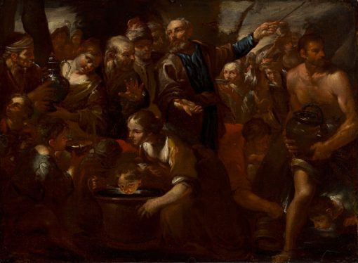 Moses Striking the Rock | Gioacchino Assereto | oil painting