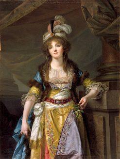 Portrait of a Lady in Turkish Fancy Dress | Jean-Baptiste Greuze | oil painting