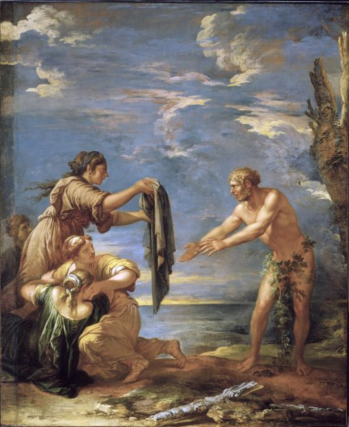 Odysseus and Nausicaa | Salvator Rosa | oil painting