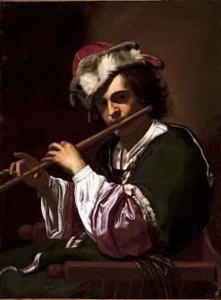 Boy with a Flute | Simon Vouet | oil painting