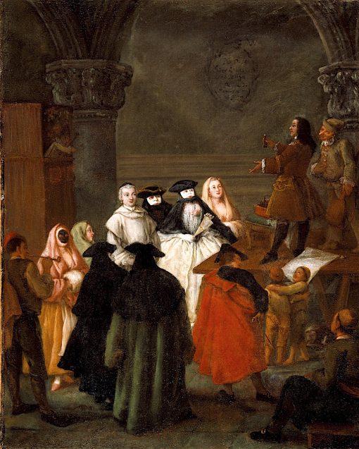 The Quack Doctor   Pietro Longhi   oil painting