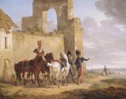 Military Scene | Bernard Edouard Swebach | oil painting