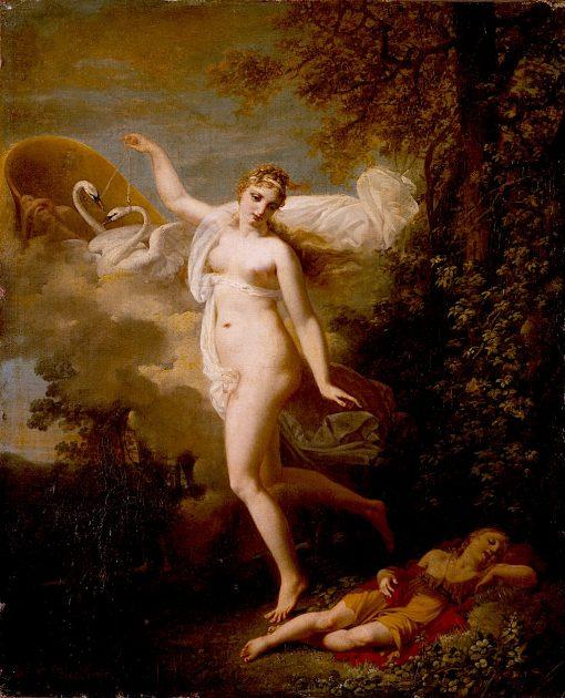 Venus and a Sleeping Cupid | Jean-Baptiste Mallet | oil painting