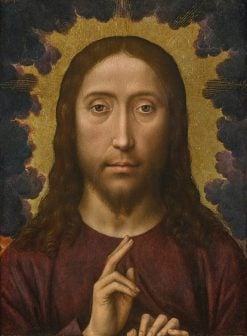Christ Blessing | Hans Memling | oil painting