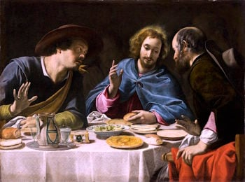 The Supper at Emmaus | Filippo Tarchiani | oil painting