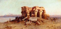 Caravan nearing a Desert Ruin | Alessandro La Volpe | oil painting