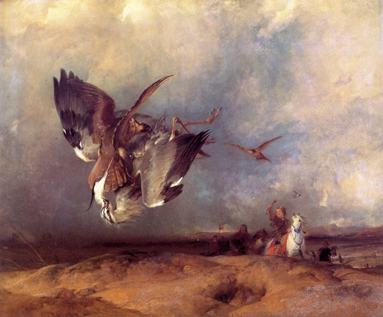 Hawking in the Olden Time | Sir Edwin Landseer | oil painting