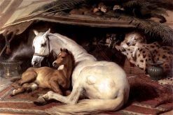 The Arab Tent | Sir Edwin Landseer | oil painting