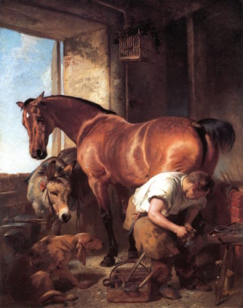 Shoeing | Sir Edwin Landseer | oil painting