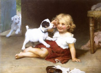 Ruff Play | Arthur John Elsley | oil painting