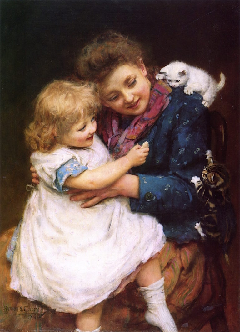 Play Time | Arthur John Elsley | oil painting