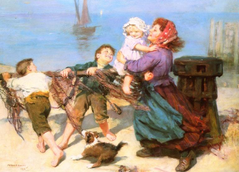 Heave - Ho   Arthur John Elsley   oil painting