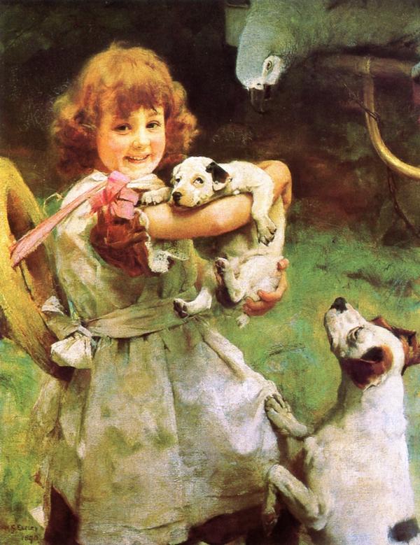 More Frightened than Hurt | Arthur John Elsley | oil painting