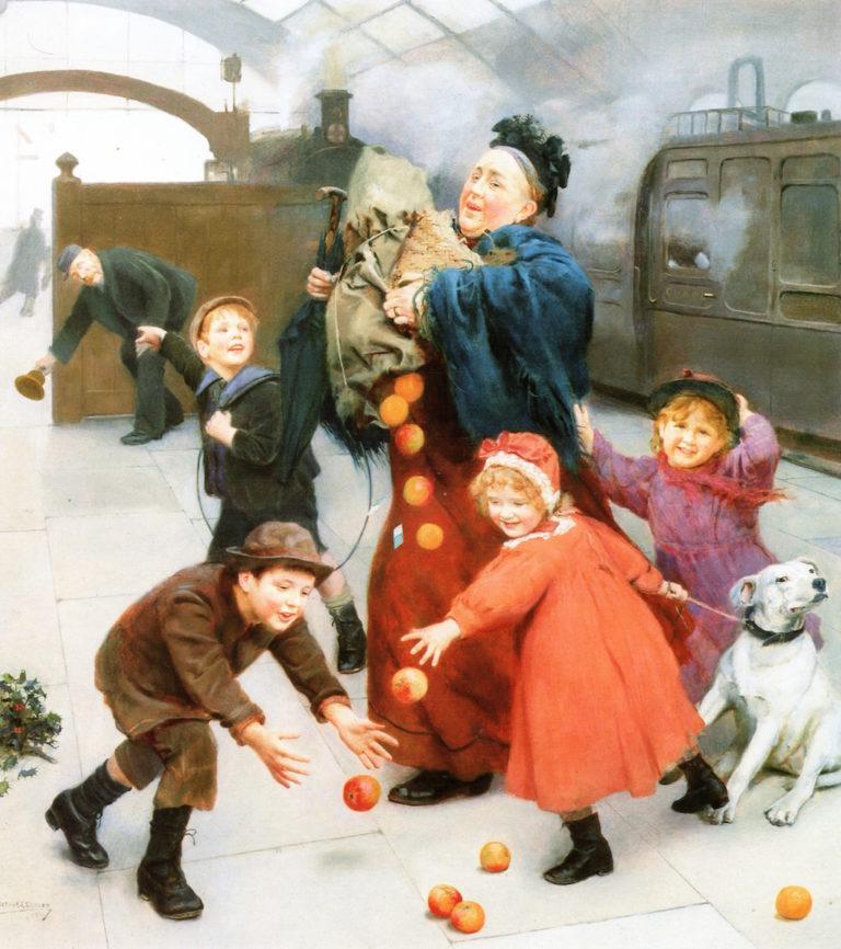 More Haste Less Speed   Arthur John Elsley   oil painting