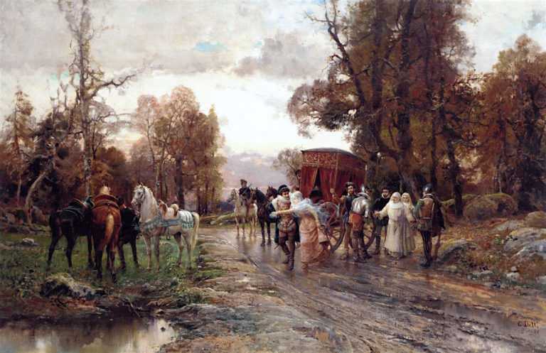 A Safe Passage | Cesare Augusto Detti | oil painting