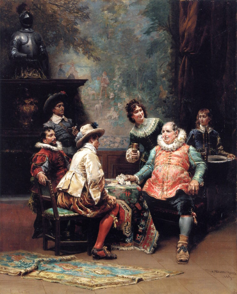 Showing His Hand | Cesare Augusto Detti | oil painting