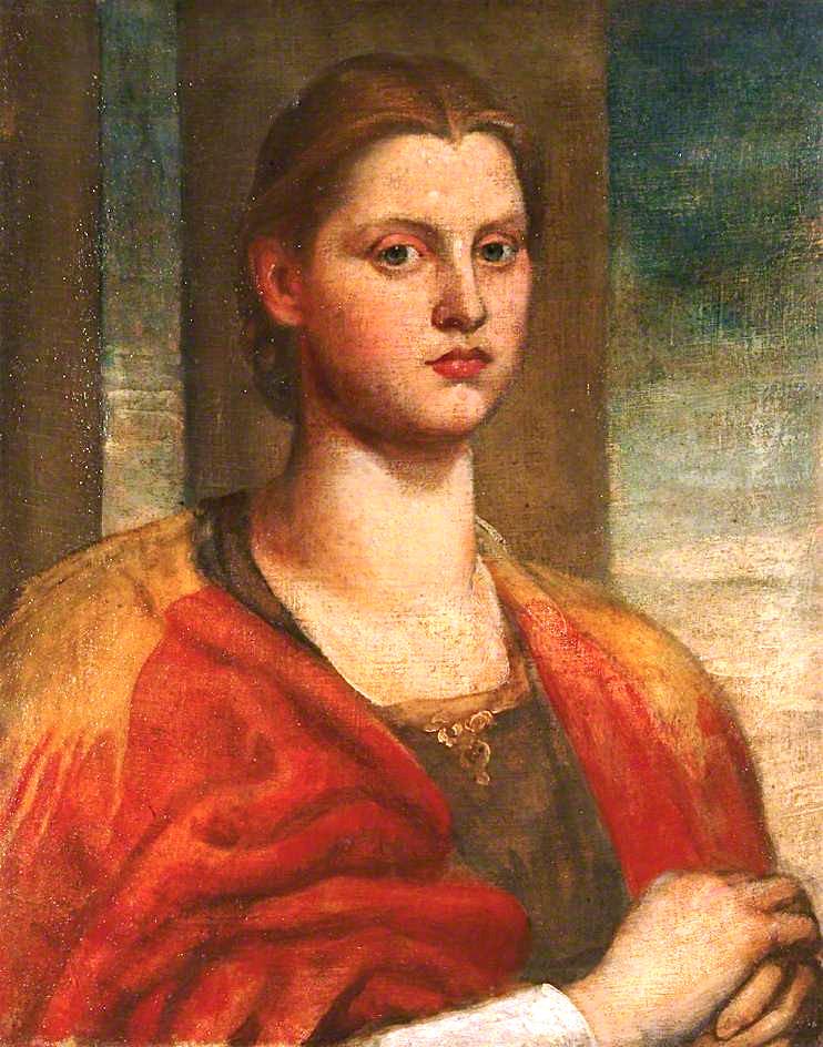 A Fair Saxon | George Frederic Watts | oil painting