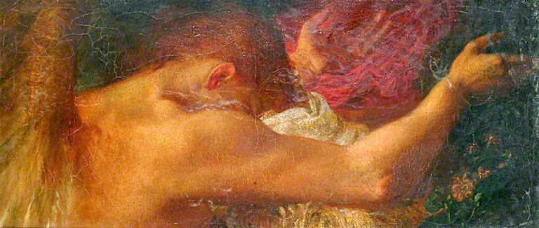A Fragment   George Frederic Watts   oil painting