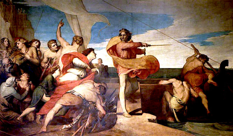 Alfred Inciting the Saxons to Prevent the Landing of the Danes | George Frederic Watts | oil painting