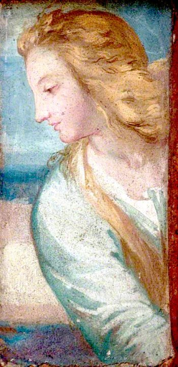 Bust of a Woman in Profile   George Frederic Watts   oil painting
