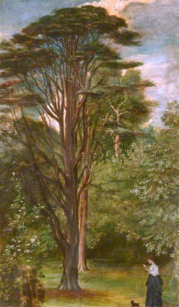 Cedar Tree | George Frederic Watts | oil painting