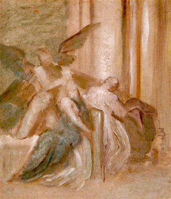 Death with Two Angels | George Frederic Watts | oil painting