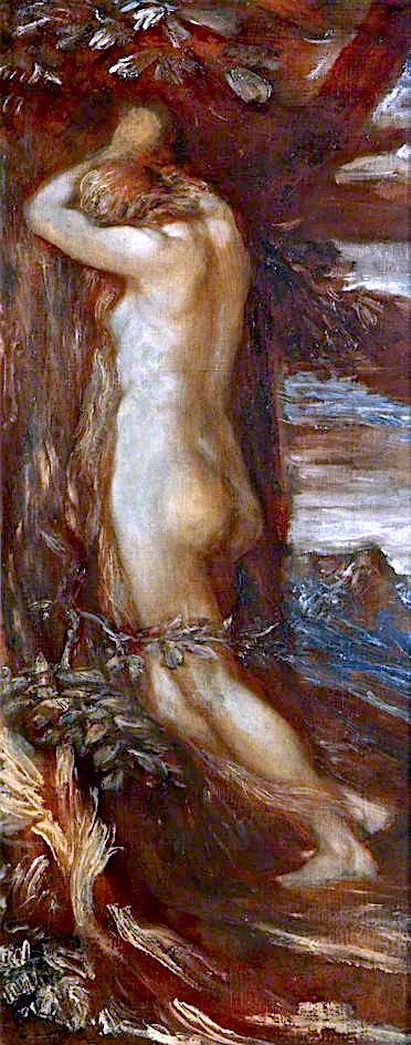 Eve Repentant | George Frederic Watts | oil painting