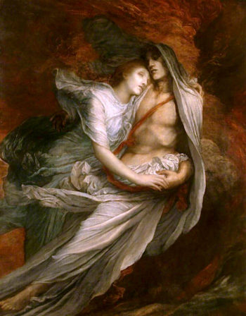 Paolo and Francesca | George Frederic Watts | oil painting