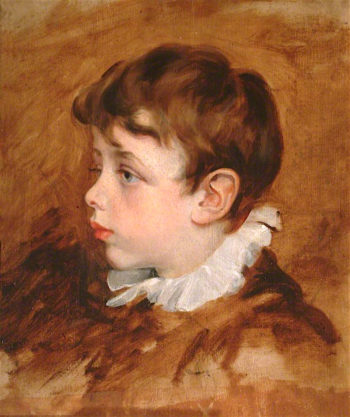 Portrait of a Boys Head | George Frederic Watts | oil painting