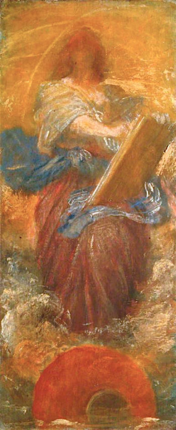 Recording Angel | George Frederic Watts | oil painting