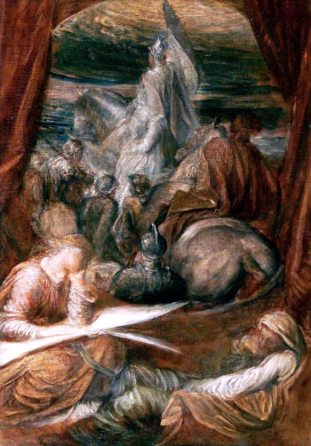 Britomart (study)   George Frederic Watts   oil painting