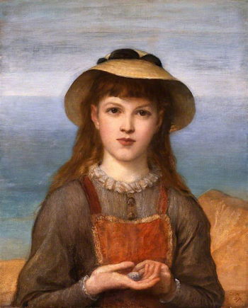 Study -  Head of a Girl | George Frederic Watts | oil painting
