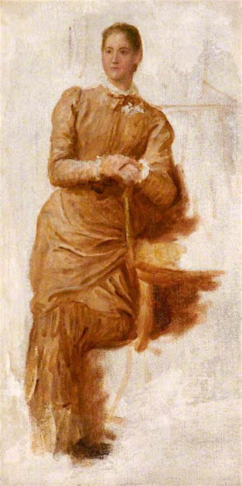 Study of a Lady Leaning on a Chair | George Frederic Watts | oil painting