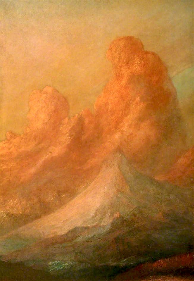 Sunset on the Alps | George Frederic Watts | oil painting